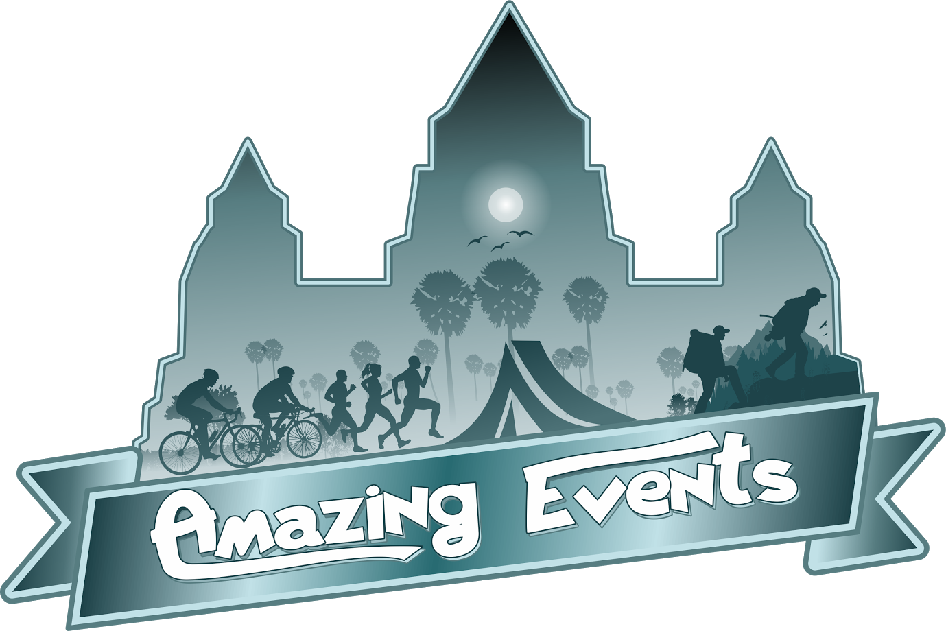 Ninja Silhouette | Cambodia Amazing Events | Cambodia Events | Night Run | Marathon | Fun Run | Angkor Night Run